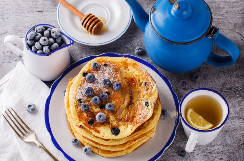 Cannabis Infused Blueberry Pancakes