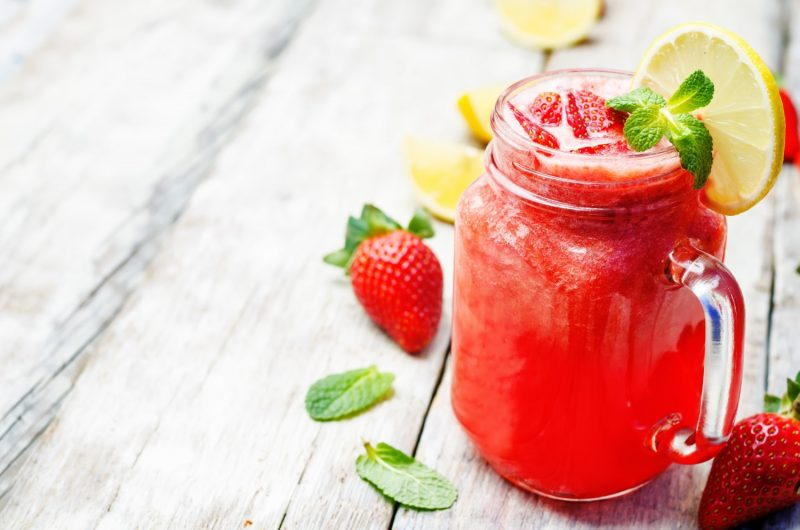 Cannabis Infused Boozy Strawberry Lemonade