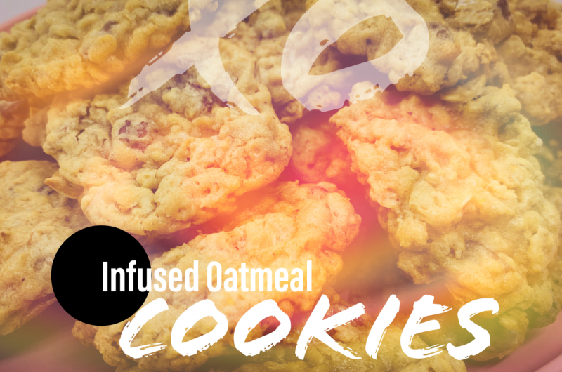 Cannabis Infused Oatmeal Chocolate Chip Cookies