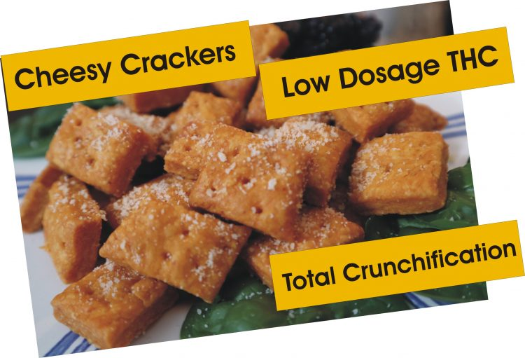 Cannabis Infused Cheesy Crackers